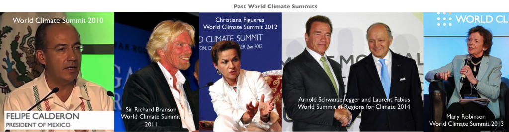 World Climate Summit past speakers